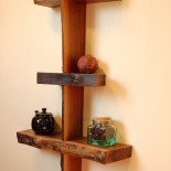 Walnut Live Edge Shelf, No. 15