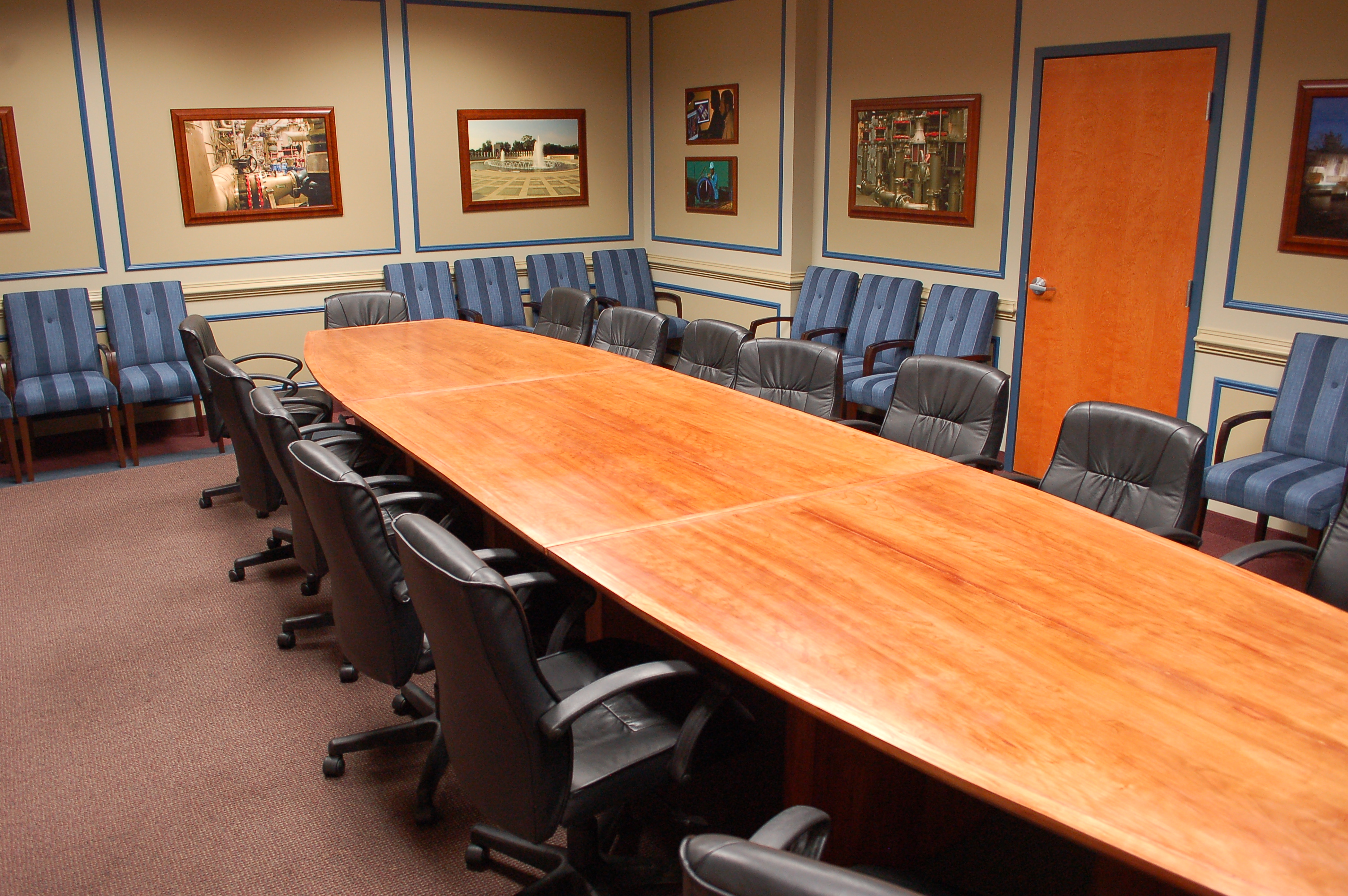 Custom conference table for executive boardroom, in Washington, DC